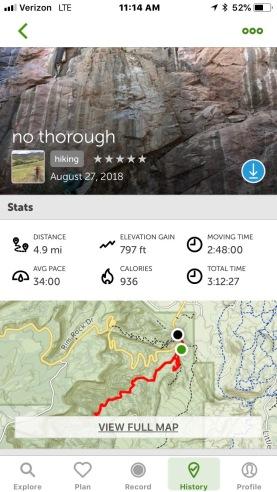 No Thoroughfare Canyon Trail