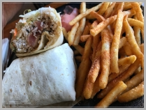 Seared ahi tuna wrap