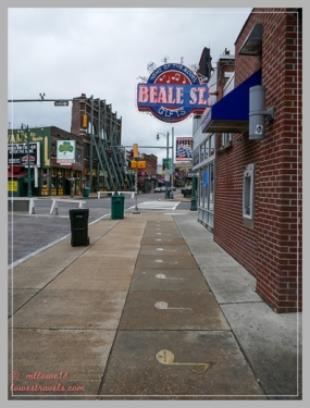 Beale Street Brass Note Walk of Fame