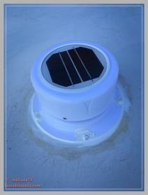 New solar vent fan/cover installed