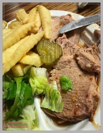 Sliced pork