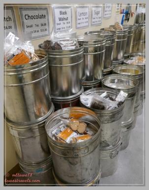 Barrels of cookies