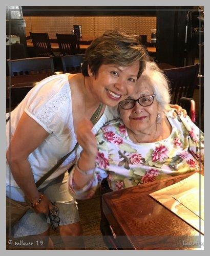 With my cousin Eppie on her 85th birthday