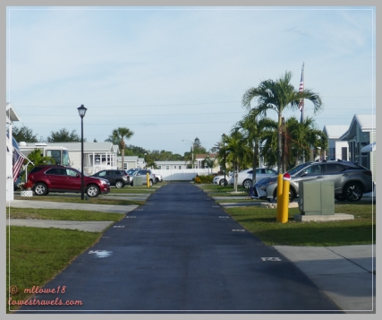 Our street at the resort
