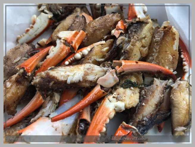 Grilled crab claws