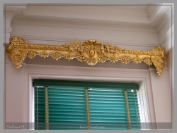 Gold-embossed valance