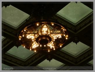 The chandelier spells Texas