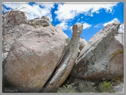 Huge granite boulders