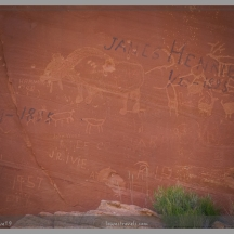 Petroglyphs and pioneer writings