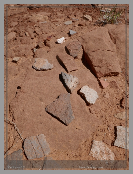 Sherds at West Pueblo