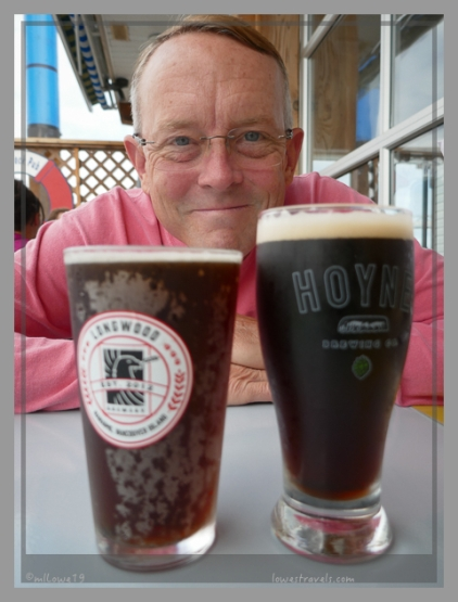 For a change, the beers we both liked were similar in color at Longview Brewery