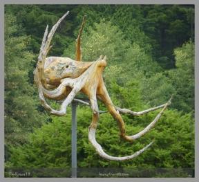 Octopus made of driftwood