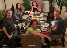 Dinner with friends in Sparks, Nevada