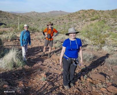 Happy hikers - Steve, Mark and Joodie